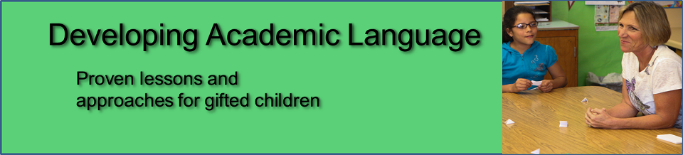 Developing Academic Language - a Lesson