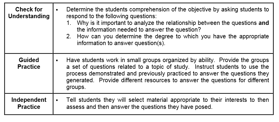 Lesson Plan Measuring Answers To Questions