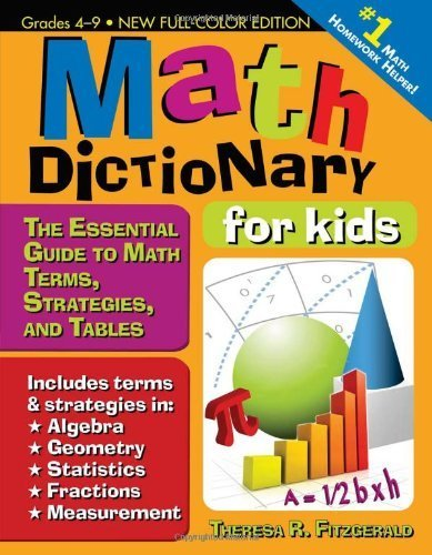 Kids Maths Book Cover : Book review math dictionary for kids